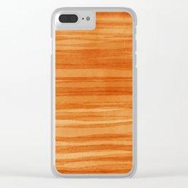 Beautiful  Orange Clear iPhone Case
