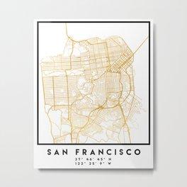SAN FRANCISCO CALIFORNIA CITY STREET MAP ART Metal Print