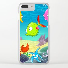 Under the Sea, Tropical, Sealife Clear iPhone Case
