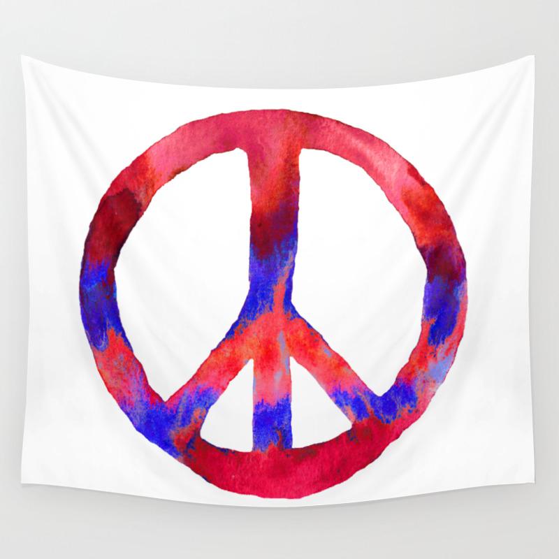 Peacesign wall tapestries society6 biocorpaavc