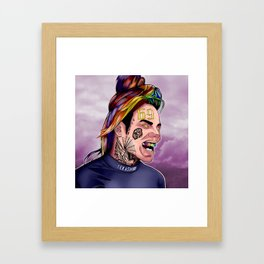 6ix9ine--Paint II Framed Art Print