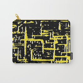 Mid-century Pattern 198 (black yellow texture) Carry-All Pouch