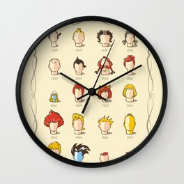 The Marvelous Cartoon Wigs Museum Wall Clock