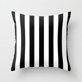 Vertical Stripes (Black/White) Throw Pillow