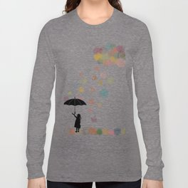 Colorful snow in Winter Long Sleeve T-shirt