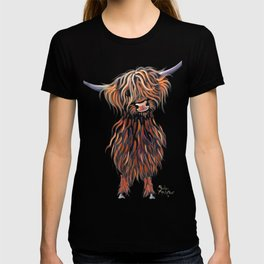 Scottish Highland Cow ' WEE MAC ' by Shirley MacArthur T-shirt