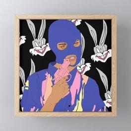 Dumb Rabbit Framed Mini Art Print