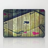 poker iPad Cases featuring Poker wood  by    Amy Anderson
