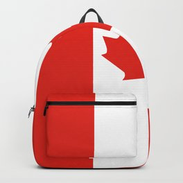 Red and White Canadian Flag Backpack