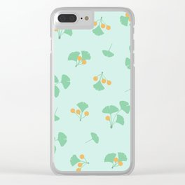 Gingko Biloba Clear iPhone Case