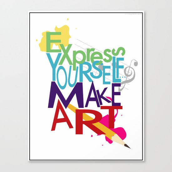 Express Yourself... Canvas Print