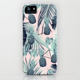 Tropical Pineapple Jungle Geo #2 #tropical #summer #decor #art #society6 iPhone Case