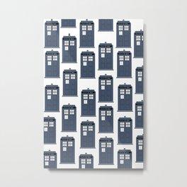 Doctor WHO Tardis Pattern Metal Print