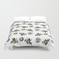 bees Duvet Covers featuring Bees by rapunzette