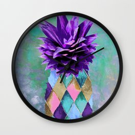 Pineapple Juice Wall Clock