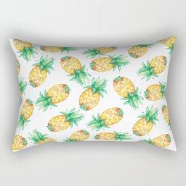 Tropical sunshine yellow green watercolor pineapple Rectangular Pillow