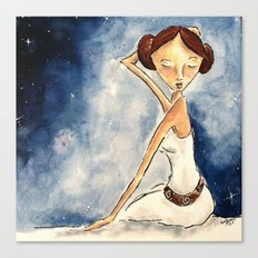 Pinup Princess Leia Canvas Print
