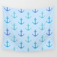 anchors Wall Tapestries featuring Anchors by wensays