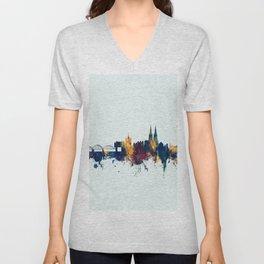 Cologne Germany Skyline Unisex V-Neck