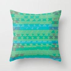 Summertime Green Throw Pillow