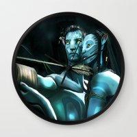 avatar Wall Clocks featuring Avatar by Dano77