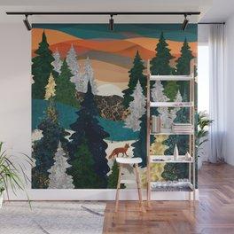 Amber Fox Wall Mural