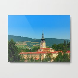 The monastery of Schlaegl | architectural photography Metal Print