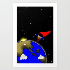 Super Chubby to the Rescue Art Print