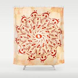 Watercolor music mandala Shower Curtain