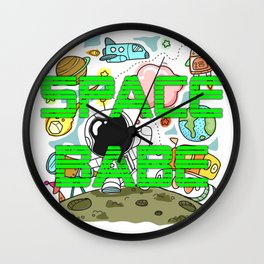 Space Babe Wall Clock