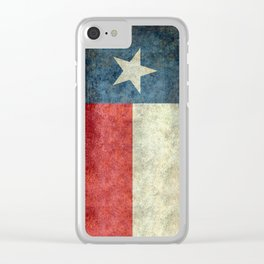 Texas State Flag, Retro Style Clear iPhone Case