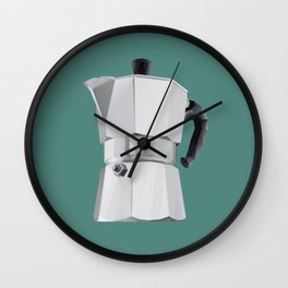 Coffee Moka Pot polygon art Wall Clock