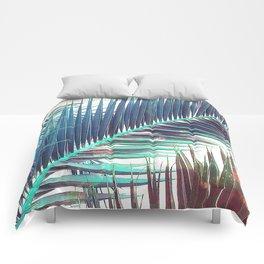 Nostalgic Palm Leaves #Decor #Vintage #BuyArt Comforters