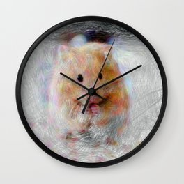 Artistic Animal Hamster Wall Clock