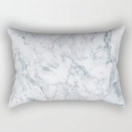 Vintage elegant navy blue white stylish marble Rectangular Pillow