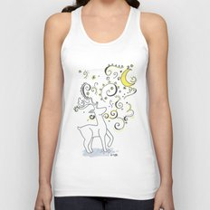 Deer Design Unisex Tank Top