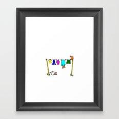 Washing line. Framed Art Print