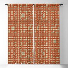 Beaded breeze blocks design pattern orange & cream Blackout Curtain