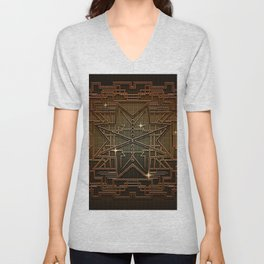 Abstract metal structure Unisex V-Neck