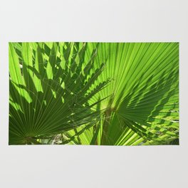 Shades of Palm Leaves Rug