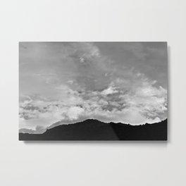 Clouds over the Sandias Metal Print