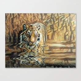 Tiger reflections 2 Canvas Print
