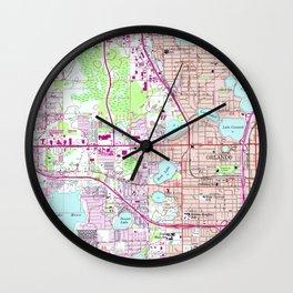 Vintage Map of Western Orlando Florida (1956) Wall Clock