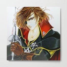 Captain Harlock, by Suki Manga Art Metal Print