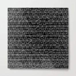 Monochrome Triangles Metal Print