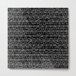 Monochrome Triangles Metal Print