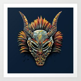 Killmonger Tribal Mask Art Print