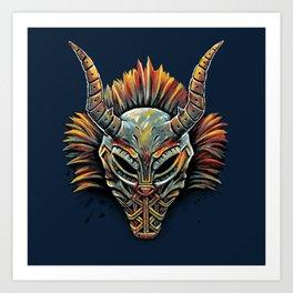 Killmonger Tribal Mask Art Print