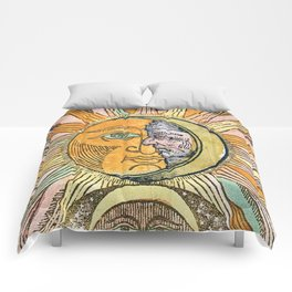 Sun and Moon Face Comforters