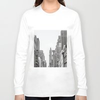 broadway Long Sleeve T-shirts featuring Broadway - NY by Basma Gallery